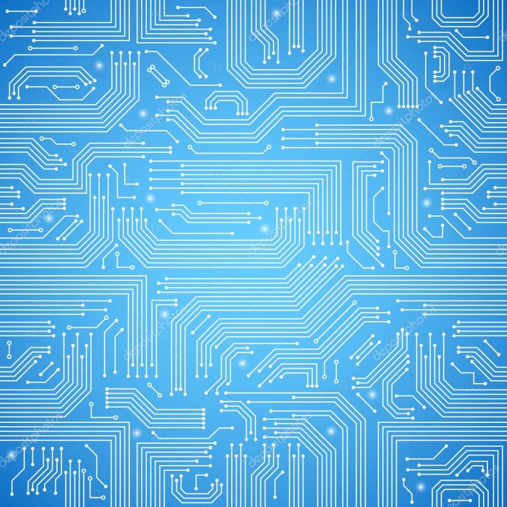 medium resolution of circuit board seamless blue pattern stock vector macrovector