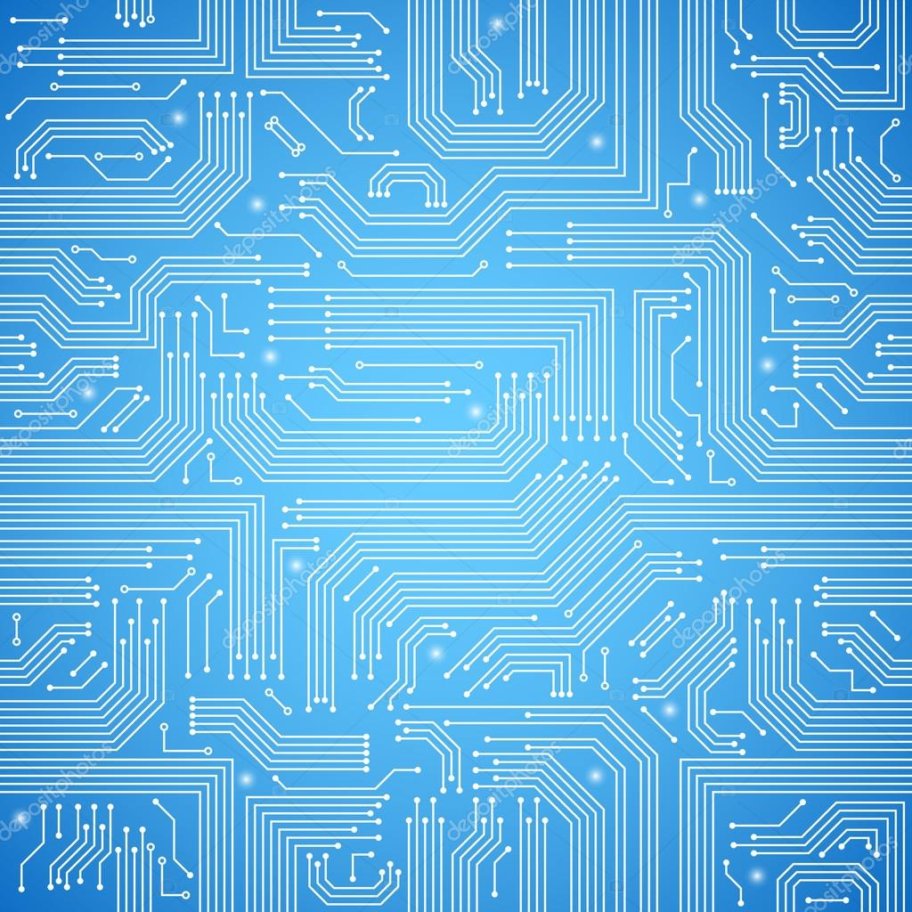 hight resolution of circuit board seamless blue pattern stock vector macrovector