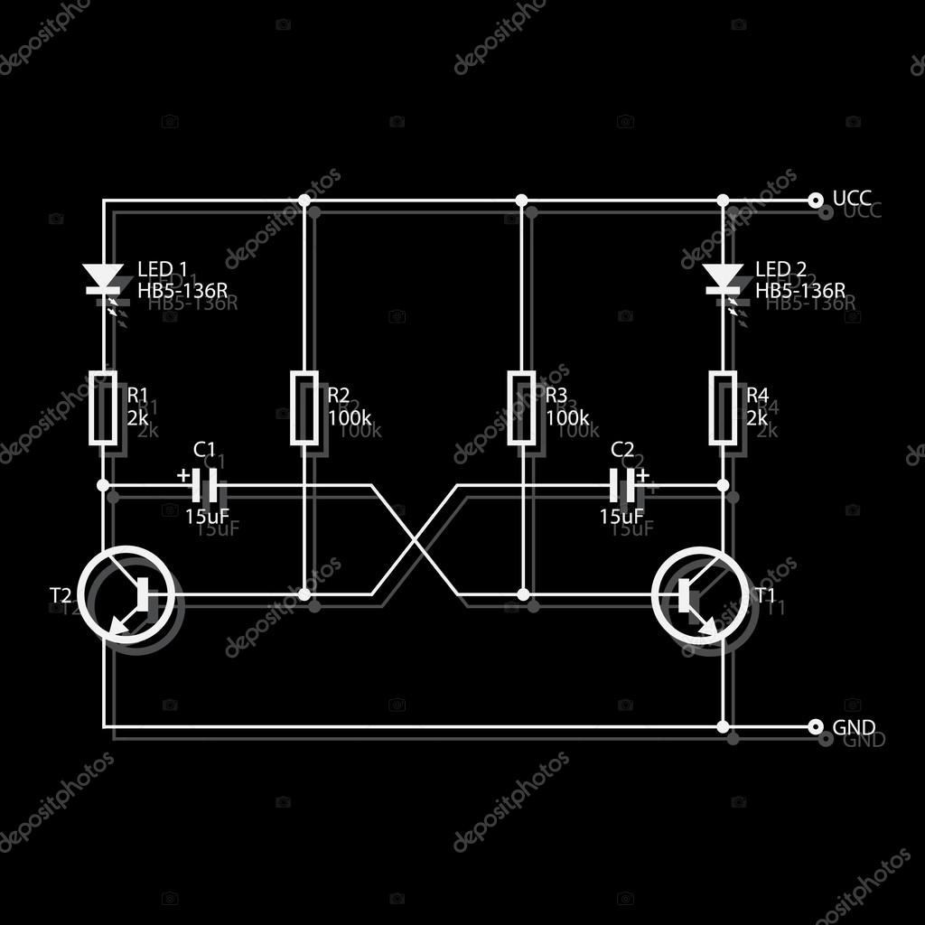 hight resolution of wiring diagram for electronics eps10 stock vector