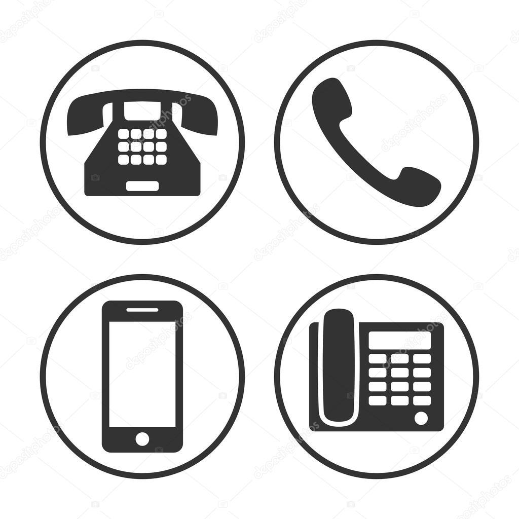 Zestaw Prosty Telefon Ikona