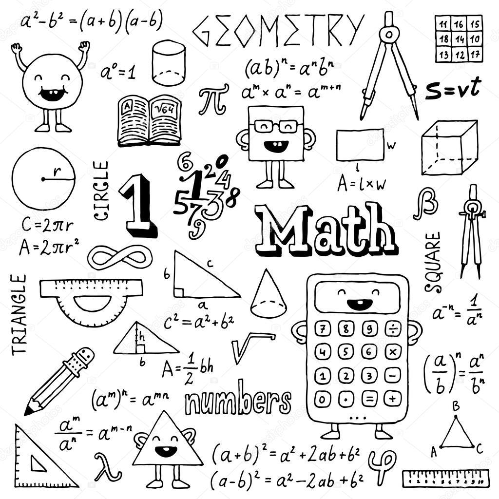 Math doodles — Stock Vector © Sashatigar #51488307
