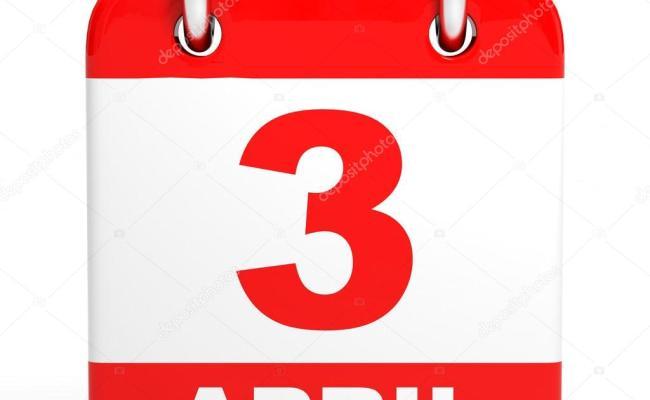 Calendario 3 De Abril Fotos De Stock Icreative3d