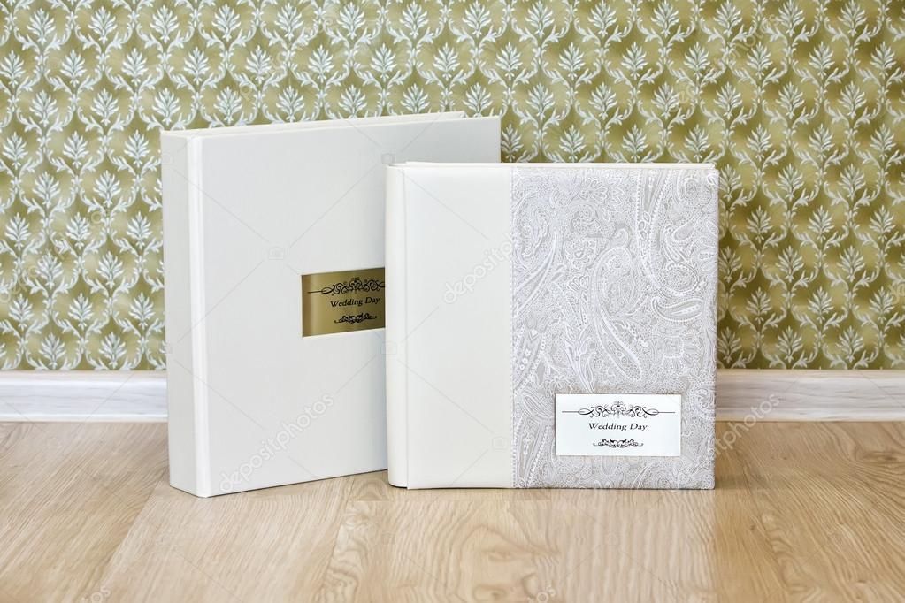 Hochzeit Fotobuch mit Leder kombiniert Cover und