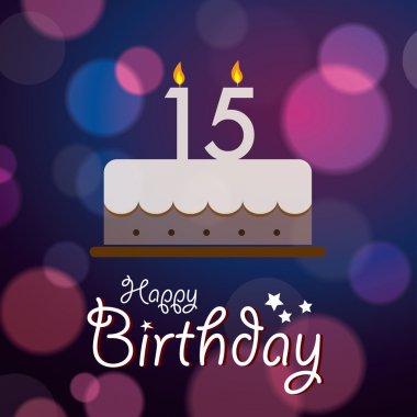 15th birthday free vector eps cdr