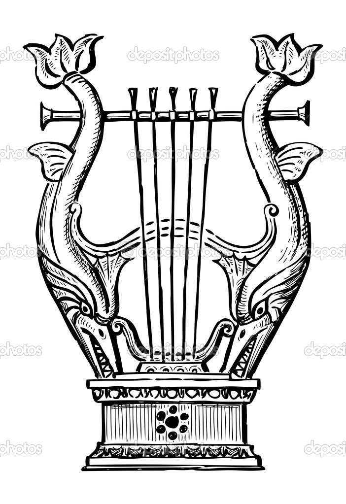Decorative lyre — Stock Vector © alekseimakarov #47157751