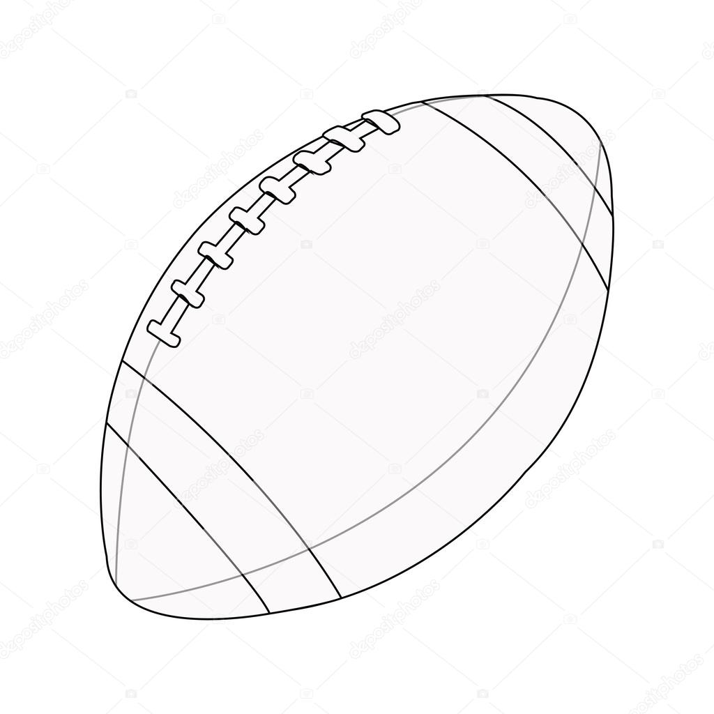 Silhouette Of A Rugby Ball