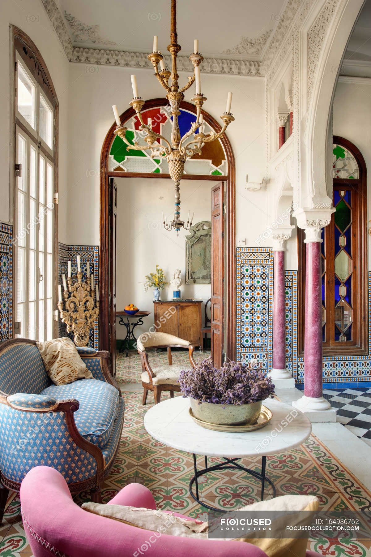 Beautiful Moroccan Style Townhouse Living Room Showcase