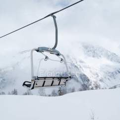 Buy Ski Lift Chair Back Support On Snowy Grand Massif French Alps White Stock Photo
