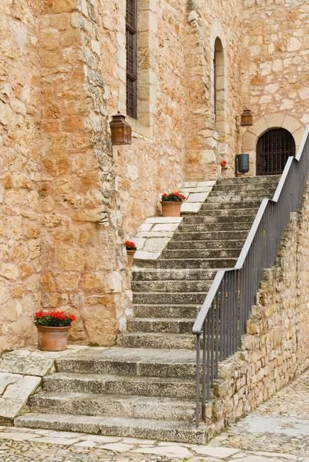 Parador De Siguenza La Mancha Blue Stock Photo 163696040