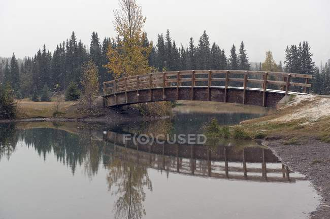 footbridge cascade ponds banff