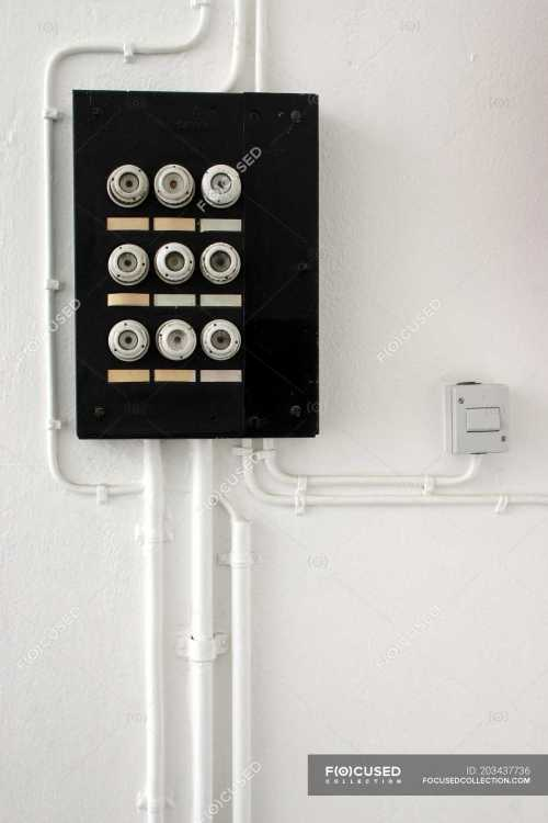 small resolution of wall with fuse box safety switch server stock photos