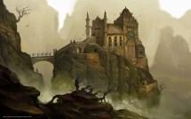 Hintergrund Kunst Burg Festung Felsen Freie
