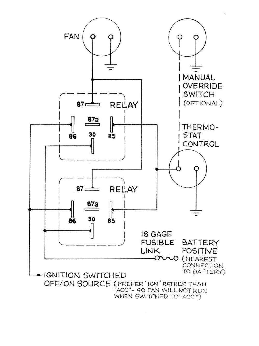 medium resolution of universal dual fan relay wiring diagram wiring library