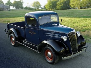 1937 Chevrolet Pickup  Rhapsody In Blue With Black