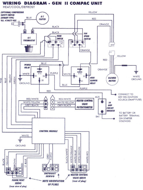 vintage air compac gen ii wiring diagram