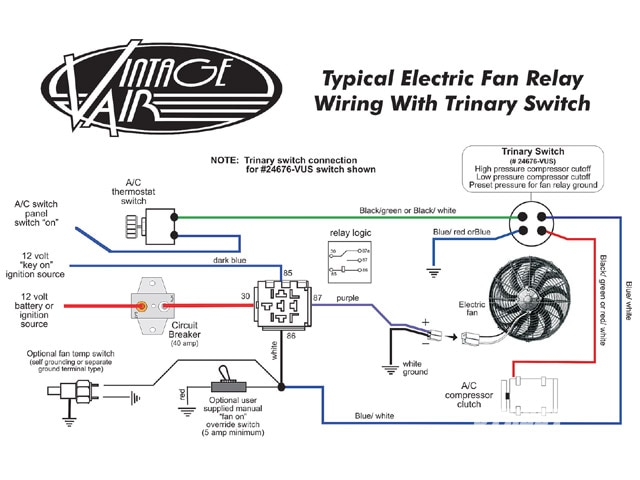 Electric Fan Relay Wiring Diagram How To Wire Electric Radiator