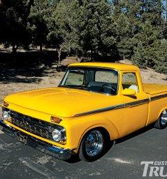 0912cct 01 z 1966 ford f100 pickup truck front bumper [ 1600 x 1200 Pixel ]