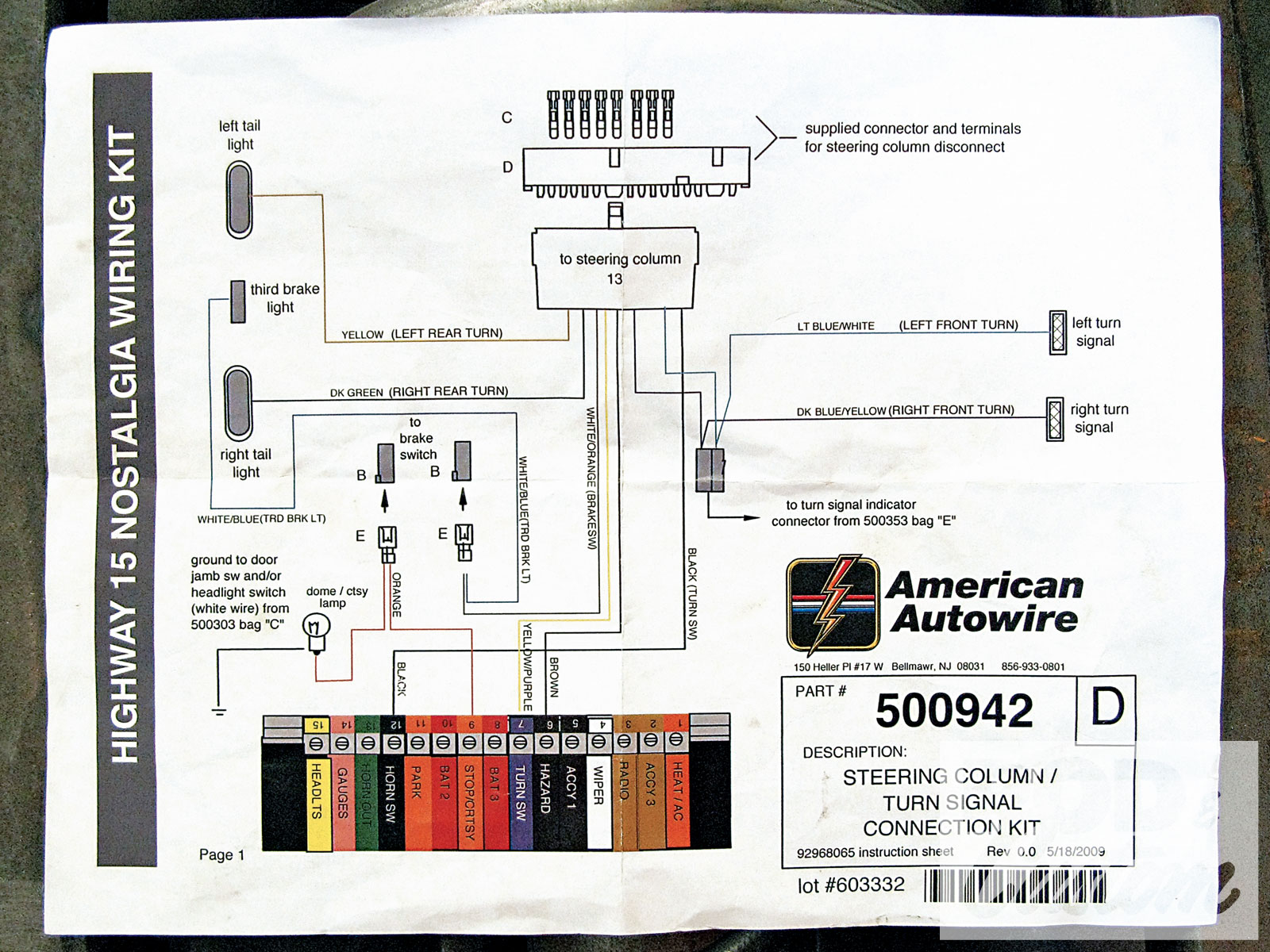 Wiring Diagram Database  Chevy Steering Column Wiring Diagram