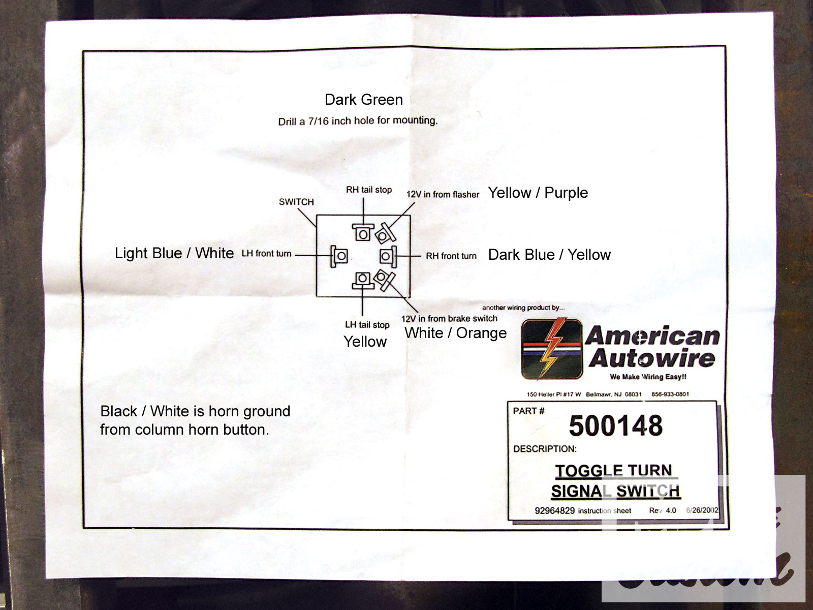 Wiring Diagram For A Network Switch Turn Signal Steering Column Bypass In The Blink Of A