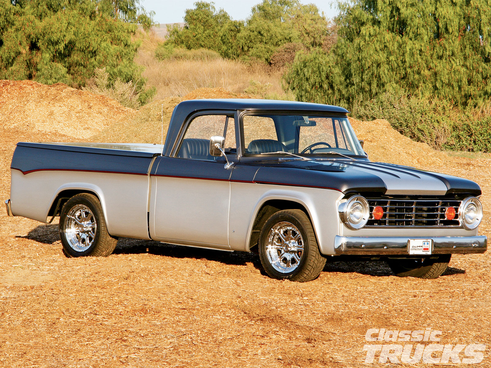 hight resolution of 1005clt 02 o 1967 dodge d100 pickup truck two tone paint job