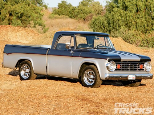 small resolution of 1005clt 02 o 1967 dodge d100 pickup truck two tone paint job