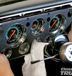 1005clt 02 o classic instruments gauge panel install for 1967 1972 chevy c10s custom dash replacement [ 1600 x 1200 Pixel ]