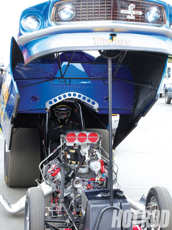 Blue Max Funny Car Engine