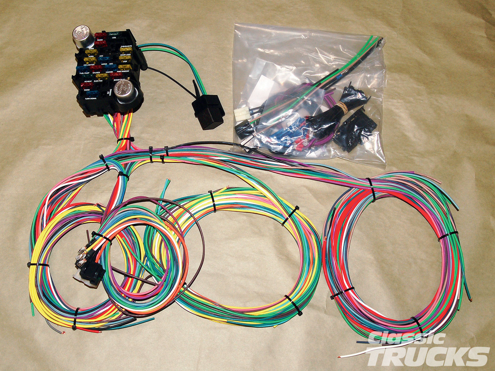 hight resolution of aftermarket wiring harness install hot rod network ez wiring 12 circuit 1010clt 02 o aftermarket wiring