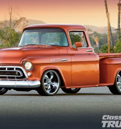 1101clt 01 o 1957 chevy 3100 front side [ 1600 x 1200 Pixel ]