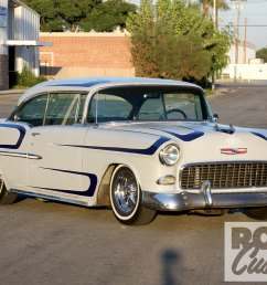 1102rc 34 o 1955 chevy bel air front left [ 1600 x 1200 Pixel ]