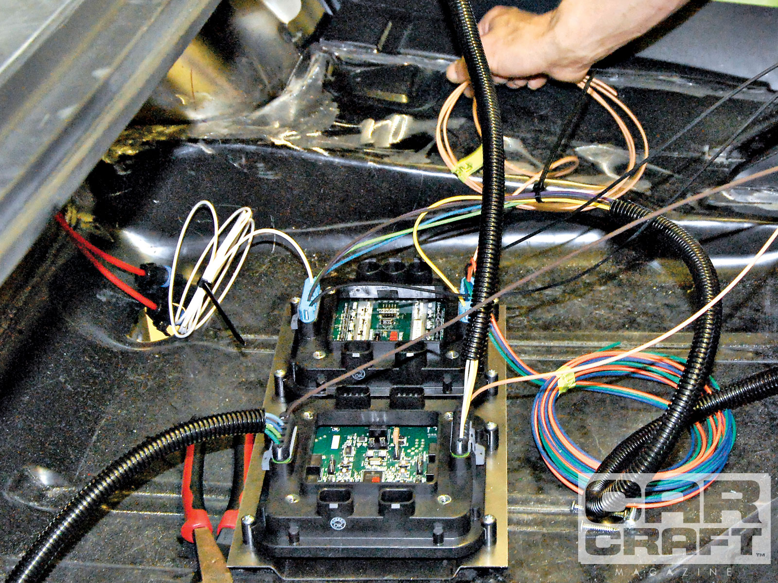 Wiring Harness Installation On Vehicle