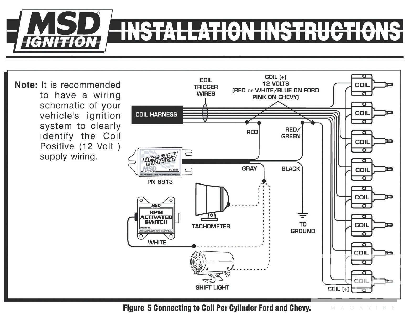 hight resolution of electronic ignition tach install install a tach in a dis car hot hei tachometer wiring tachometer wiring coil