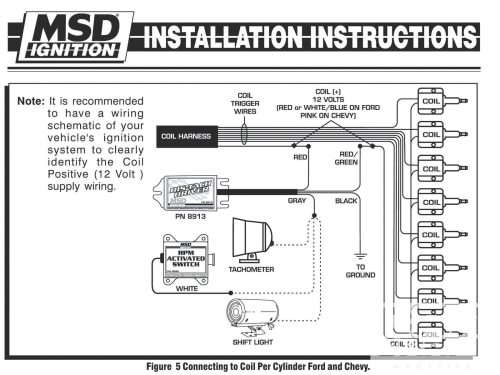 small resolution of electronic ignition tach install install a tach in a dis car hot hei tachometer wiring tachometer wiring coil