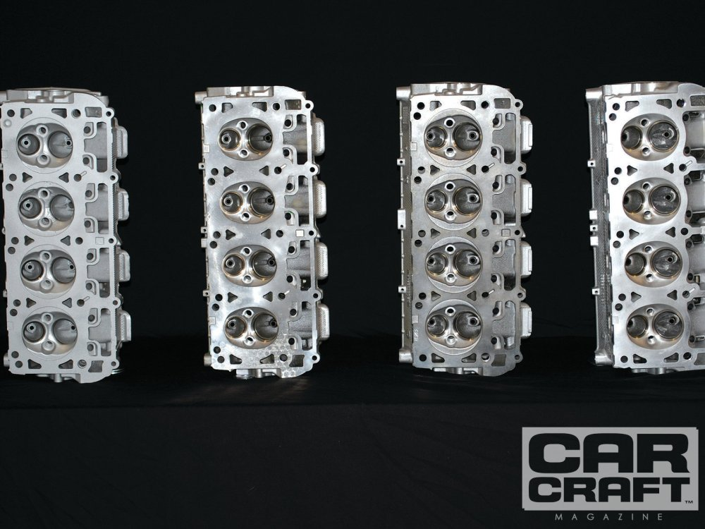 medium resolution of 5 7 hemi 6 1 hemi 6 4 hemi cylinder head comparison