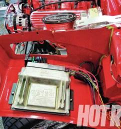 hrdp 1302 11 start to finish hot rod dynamics 1957 chevy ecm and  [ 1024 x 768 Pixel ]