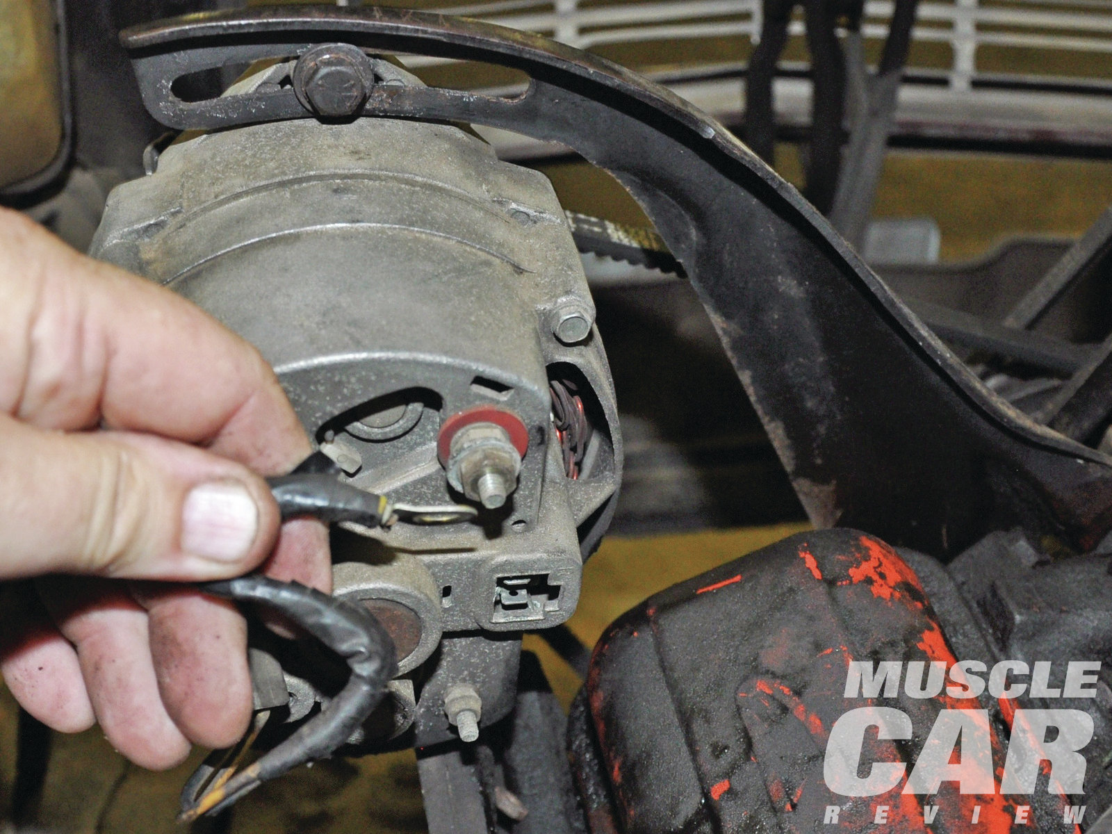 hight resolution of all wires and linkage have to come off the engine even if you intend to