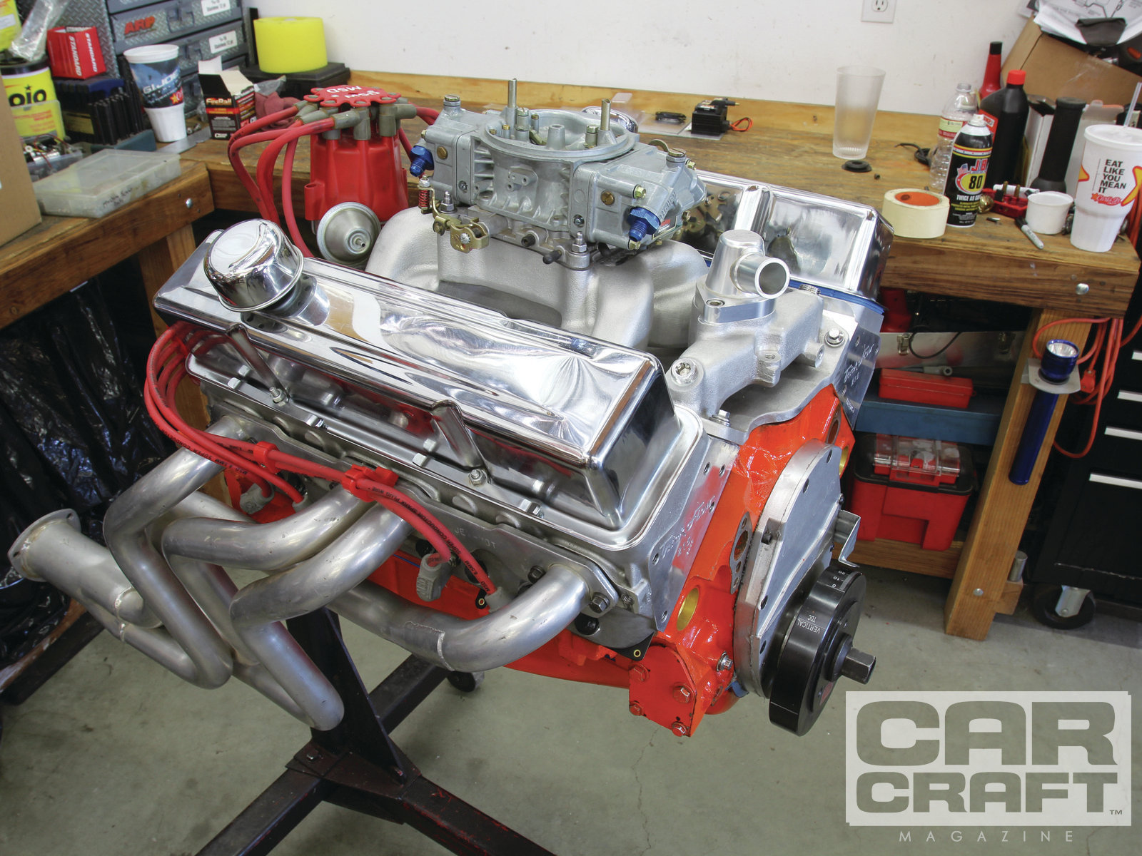 hight resolution of our test engine is the same 406ci small block we used for the single