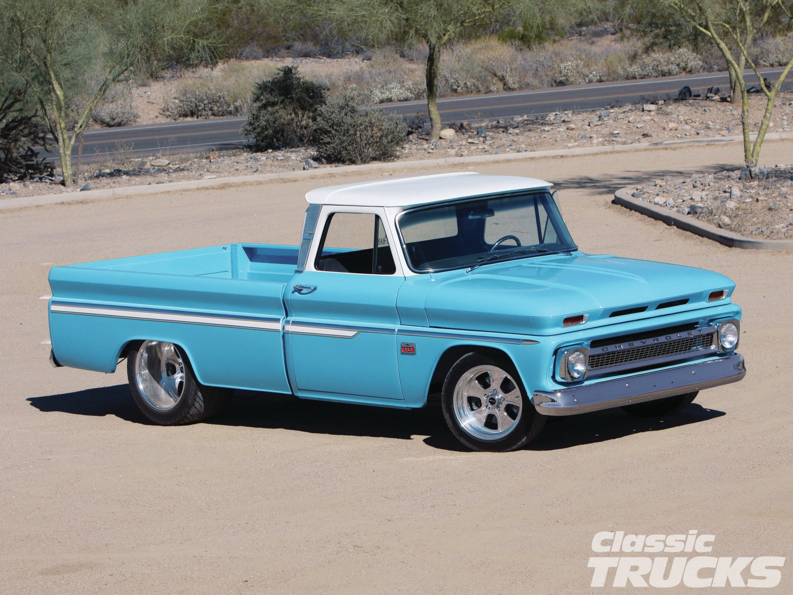 hight resolution of 1966 chevy c10 front three quarter