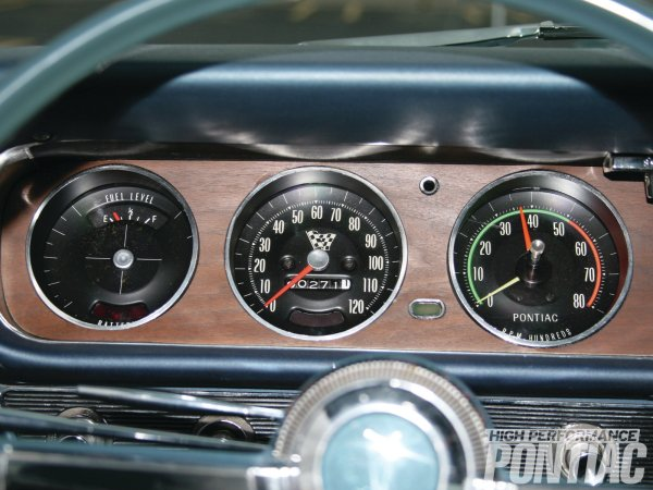 1965 pontiac gto rally gauges