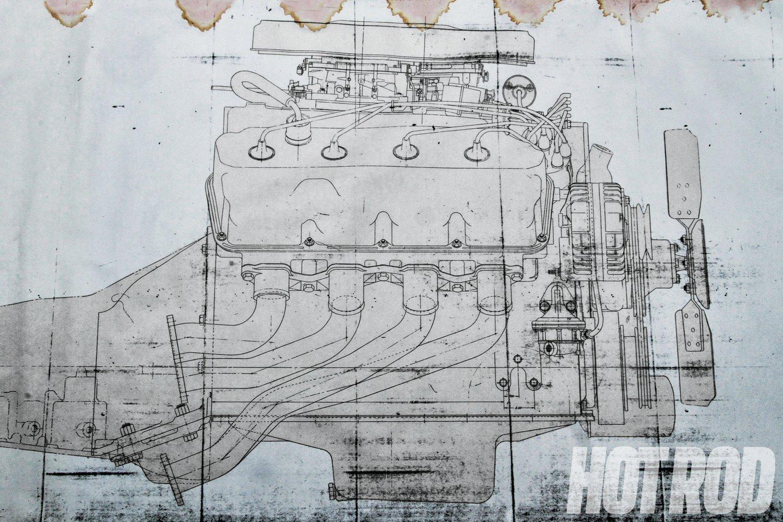 hight resolution of chrysler 426 hemi blueprint