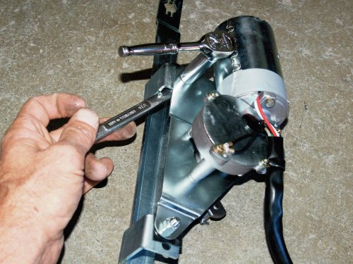 small resolution of i preassembled the wiper motor to the mounting framework and installed the arms and