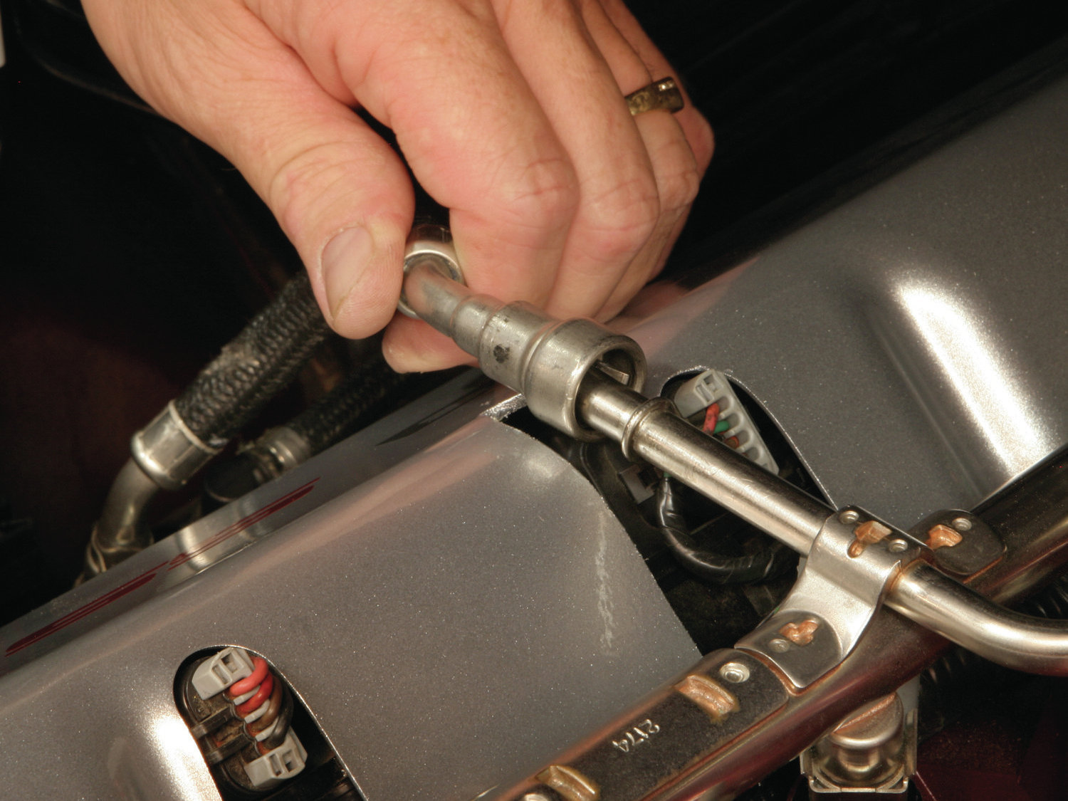 hight resolution of how to work with late model quick disconnect fuel lines hot rod network