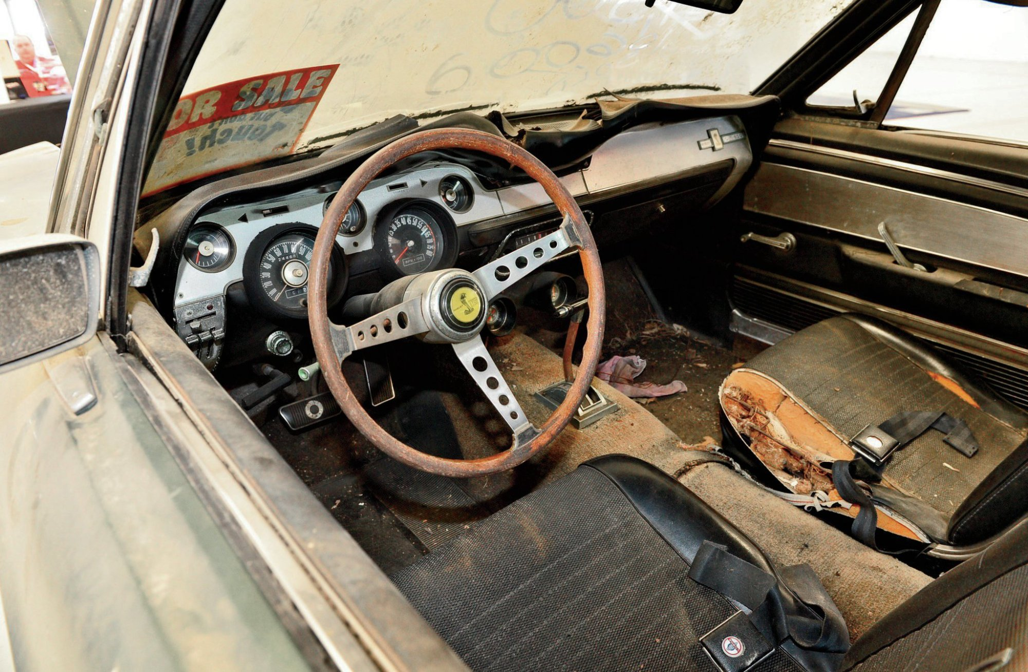 hight resolution of the interior is complete including the wood spoke shelby steering wheel and shelby gauge