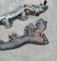 dimensionally identical to the shelby 428 the 390 mustang exhaust manifolds were used on all 67 g t 500s except for three cars ordered with the 427 side  [ 2048 x 1340 Pixel ]
