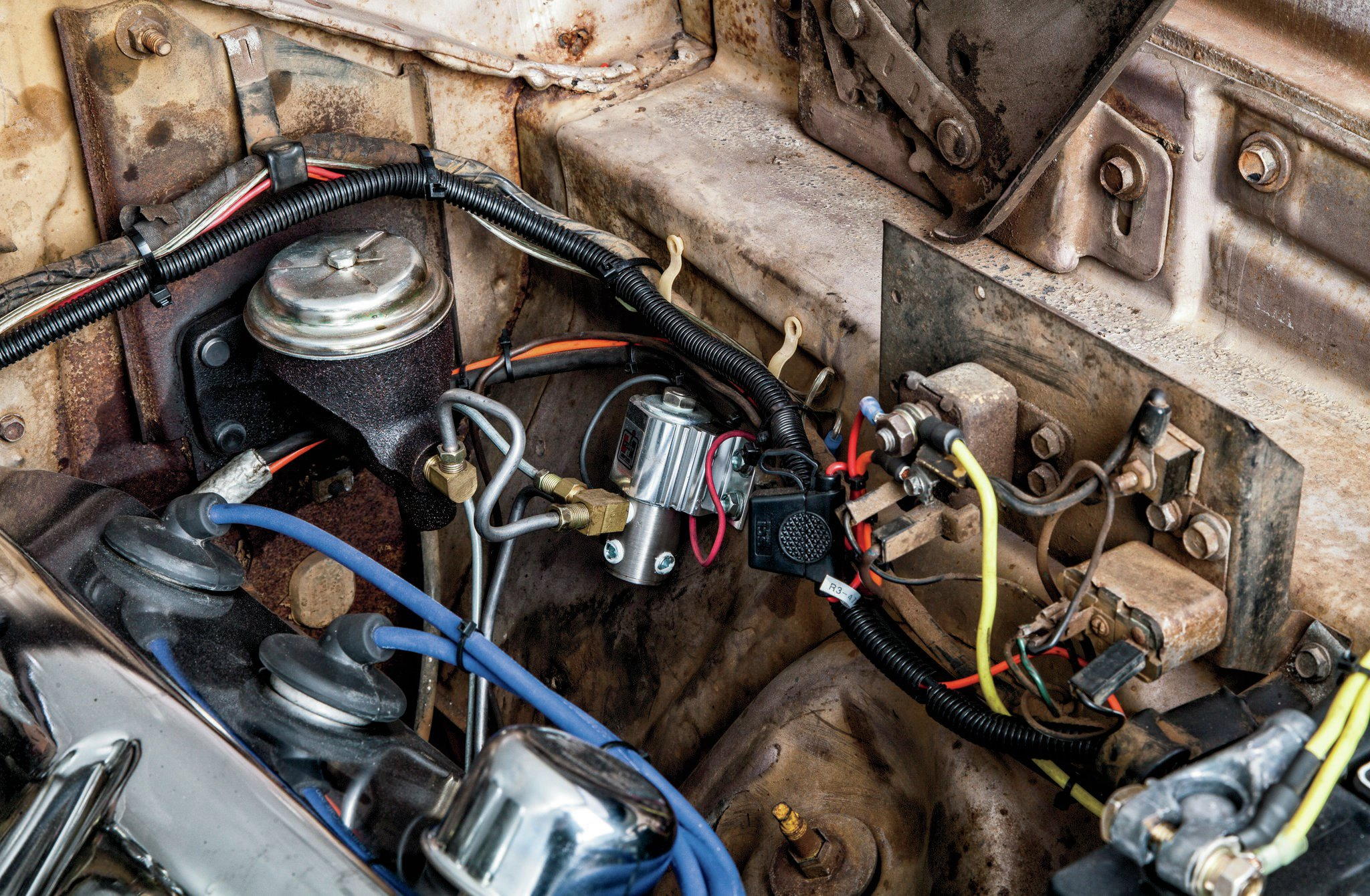 small resolution of 1966 dodge coronet unrestored 426ci hemi engine wiring on firewall rh hotrod com