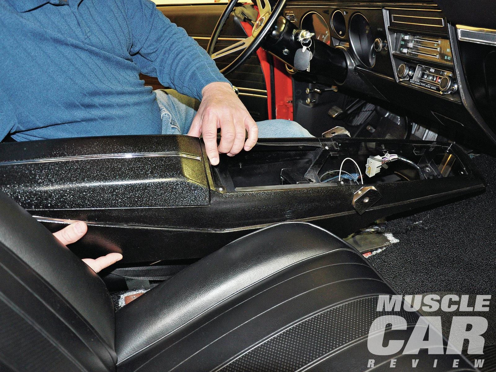 Custom 67 Camaro Console Shifter Horseshoe