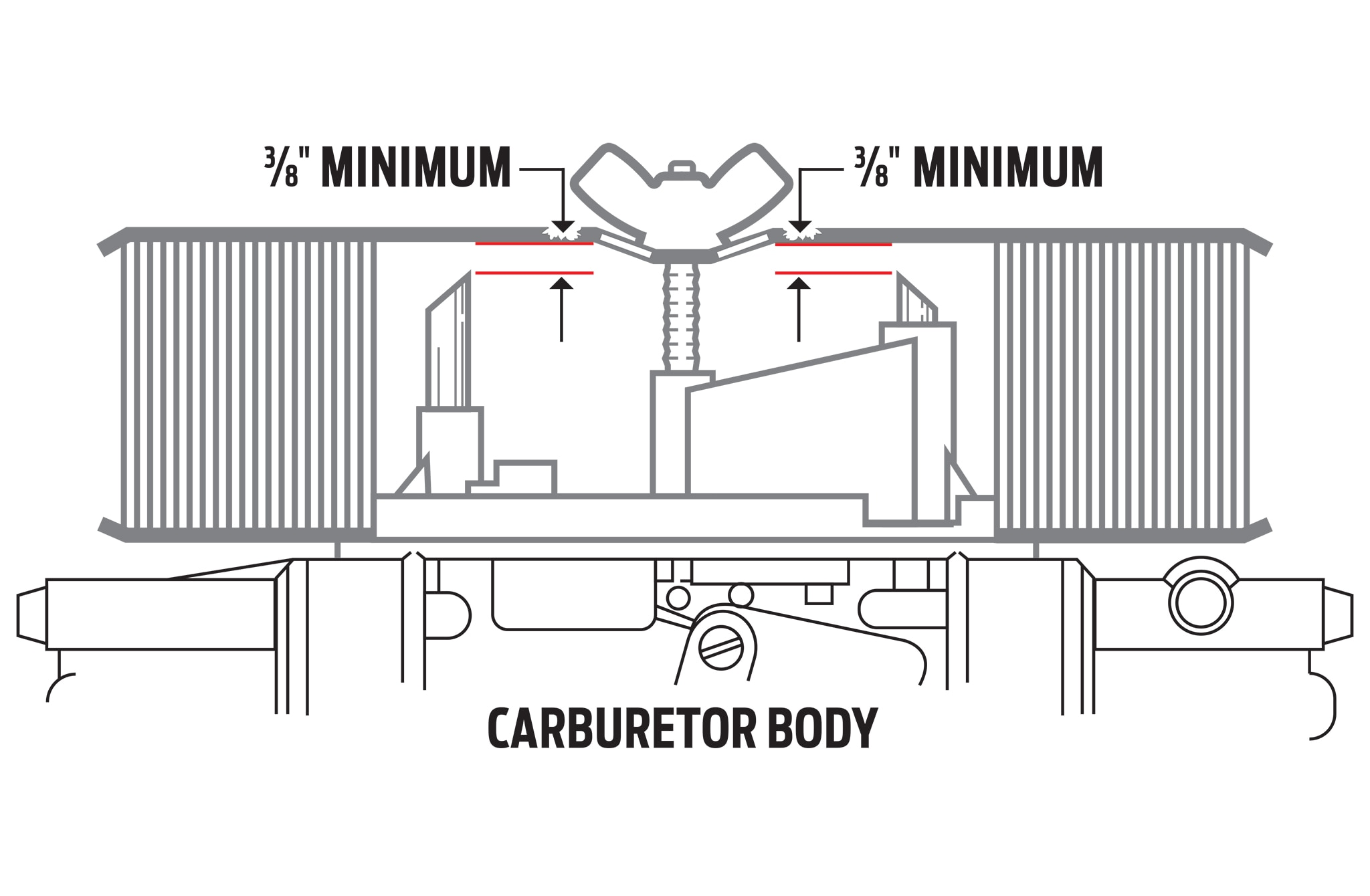 The Proper Carb Vent Tube-to-Air Cleaner Clearance, And
