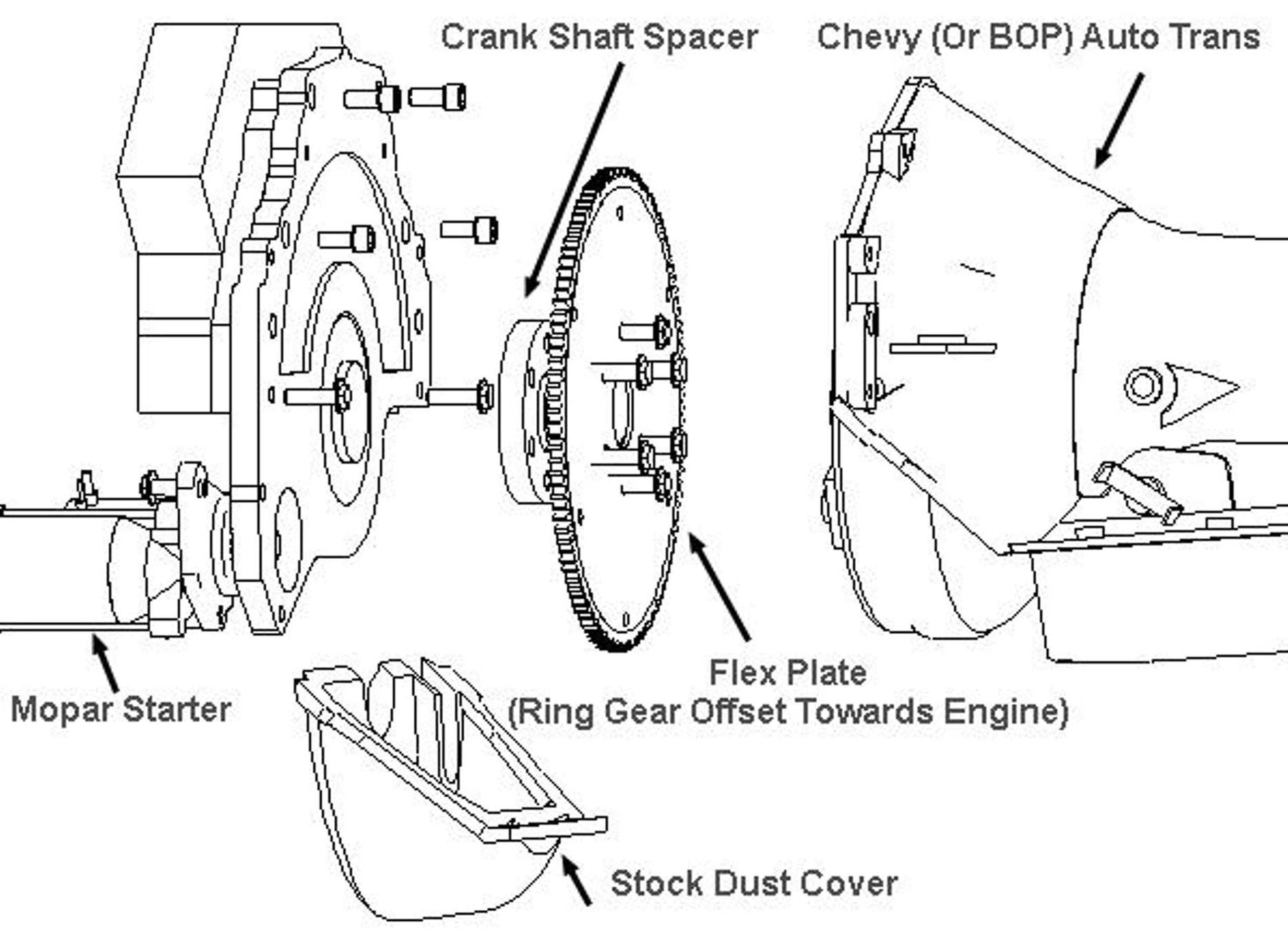 th350c transmission diagram