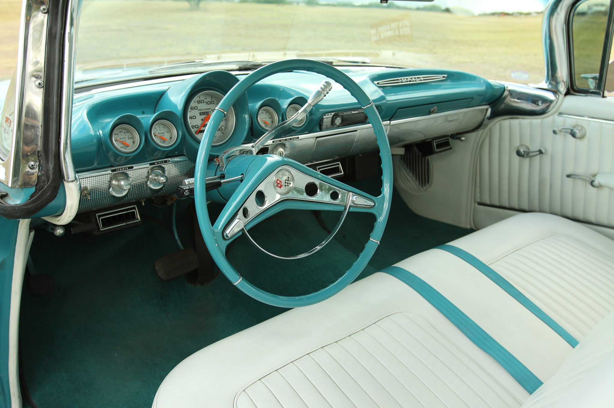chevy radio 57 palm tree parts diagram how to add nostalgic dashboard customizing tricks - hot rod network