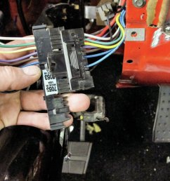 wire in the main wiring harness connector under the steering column steering column wire harness 78 vette steering column wire harness [ 2048 x 1340 Pixel ]